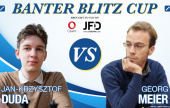 Duda & Abdusattorov in Banter Blitz Cup action