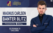 Magnus Carlsen playing Banter Blitz on Wednesday