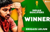 Erigaisi beats Adhiban to win Indian Qualifier