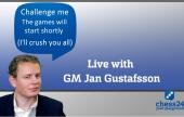 El GM Jan Gustafsson jugará contra los premium
