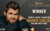 Magnus Carlsen wins chess24 Legends of Chess