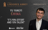"Yu Yangyi: ""It's 90% effort and 10% talent"""