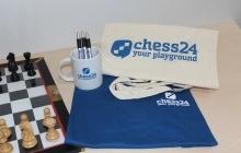 chess24-Fanpaket beim Kauf einer 2- oder 3-Jahresmitgliedschaft