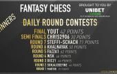 FantasyChess Round 7 Winner, updates, and finals contest