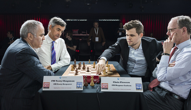 Carlsen And Kasparov In Clash Of The Goats Chess24 Com