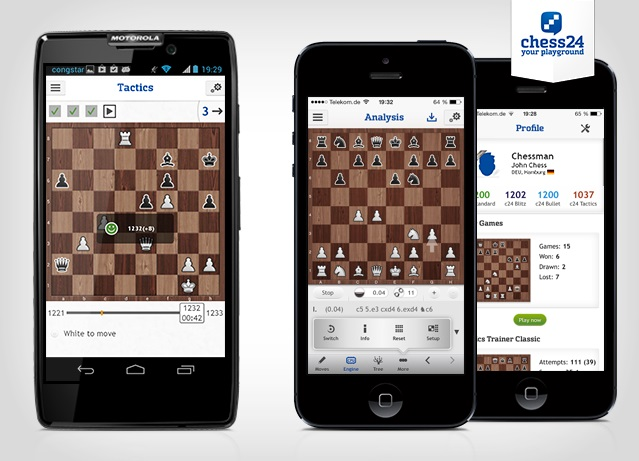 chess24 Android and iOS apps launched | chess24 com