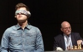 Magnus Carlsen blindfold simul exhibition in Vienna