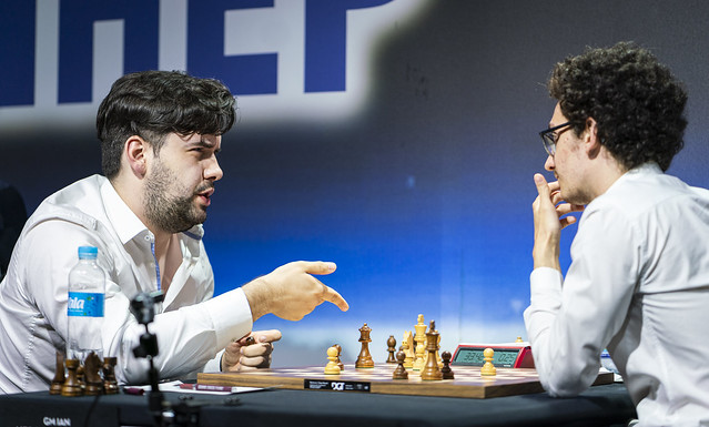 43b0b32f Ian Nepomniachtchi after taking down world no. 2 Fabiano Caruana | photo:  Lennart Ootes, Grand Chess Tour