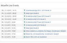 Übersicht der chess24-Liveevents