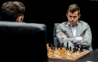 Carlsen-Caruana 5: Magnus can't match his idol