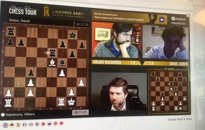Lindores Abbey Armageddon Game: Dubov wins against Nakamura