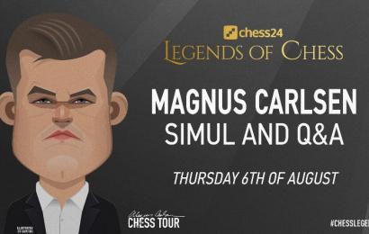 Magnus Carlsen to stream simul live