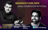 Magnus Carlsen talks to Sal Khan
