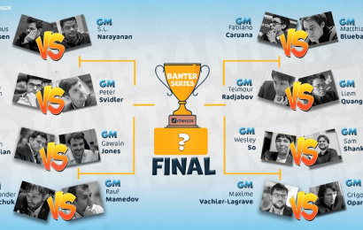 Carlsen & co. in Banter Series Finals action