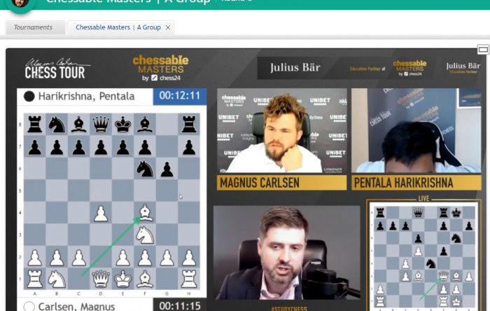 Magnus Lesson: Explaining Recent Banter Blitz  win by Magnus on Chess24.com