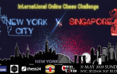 chess24 to host Charity match between Singapore and NYC