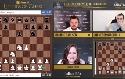 chess24 Legends 13: Magnus leads after fierce fight