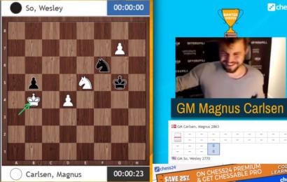 Carlsen juega 1. f3 para ganar la Banter Series