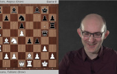 AlphaZero on Carlsen-Caruana Games 1-8