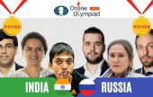 """Unprecedented circumstances"" as Russia & India share gold in FIDE Online Olympiad"