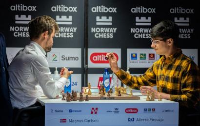Carlsen-Firouzja in der ersten Runde von Tata Steel