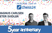 Carlsen vs Svidler este domingo en chess24