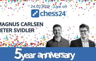 Carlsen vs Svidler this Sunday on chess24
