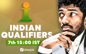 Adhiban top seed for Indian Champions Chess Tour Qualifier