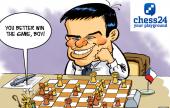 Biel 2015, Round 4: Navara's king goes walkabout