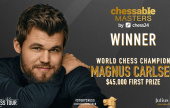 "Magnus wins Chessable Masters despite ""performance to forget"""