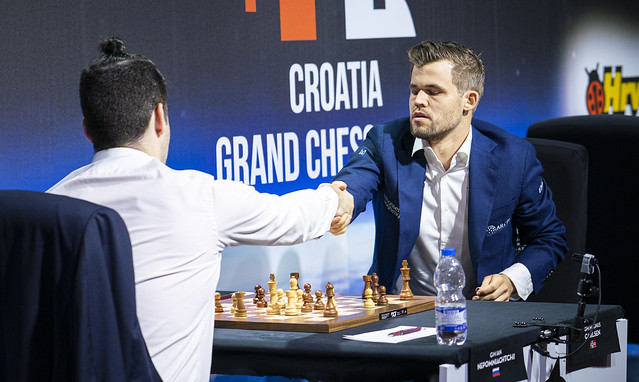 3b1e4112 Nepomniachtchi resigns a classical game against Carlsen for the first time  | photo: Lennart Ootes, Grand Chess Tour