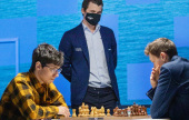 Tata Steel 9: Carlsen, Caruana & Giri all win