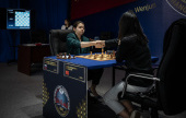 Goryachkina takes the lead with 4 games to go