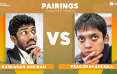 Adhiban-Pragg in Indian Qualifier quarterfinals
