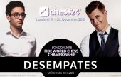 Desempates del Campeonato Mundial de Ajedrez: Carlsen - Caruana