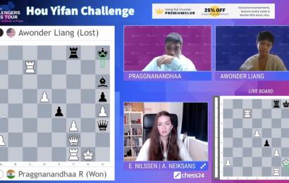 Hou Yifan Challenge 2: Праггнанандха набрал 9/9, но Каймер близко!