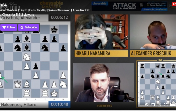 Chessable Masters GroupA : Nakamura win against Dubov - Round 10 Game Analysis and Highlights !