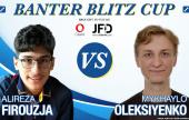 Alireza Firouzja in Banter Blitz Cup action