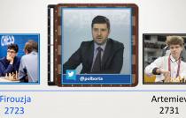 Firouzja (2723) vs Artemiev (2731) TATA Steel