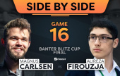 Carlsen vs. Firouzja's Banter Blitz Cup Side-by-Side