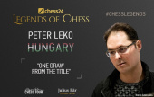 Peter Leko: One draw from the title