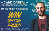 Play FantasyChess and earn prizes during the Candidates!