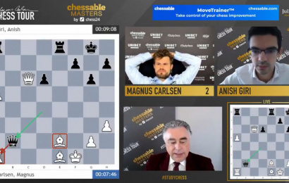 "Chessable Masters 13: Magnus leads despite ""insanity"""