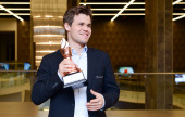 Shamkir, R9: Carlsen schafft den Hattrick