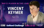 Gelfand Challenge (3): Keymer lidera la carrera