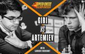 Carlsen fikk det som han ville da Artemiev feide Giri av brettet