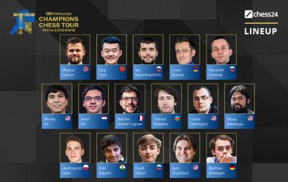 Magnus Carlsen tops 16-player Opera Euro Rapid line-up