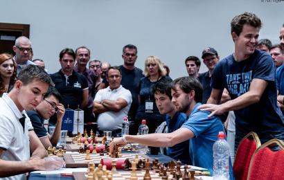 Europacup, R6: Carlsen bleibt die Nummer 1 … aber knapp!