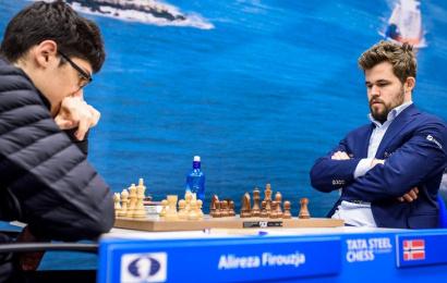 Tata Steel 9: Carlsen zeigt Firouzja, wo der Hammer hängt