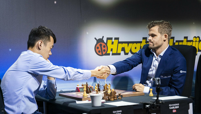 cbad68fa Ding Liren is the latest victim as Magnus Carlsen goes on yet another  Super-GM killing spree in 2019 | photo: Lennart Ootes, Grand Chess Tour